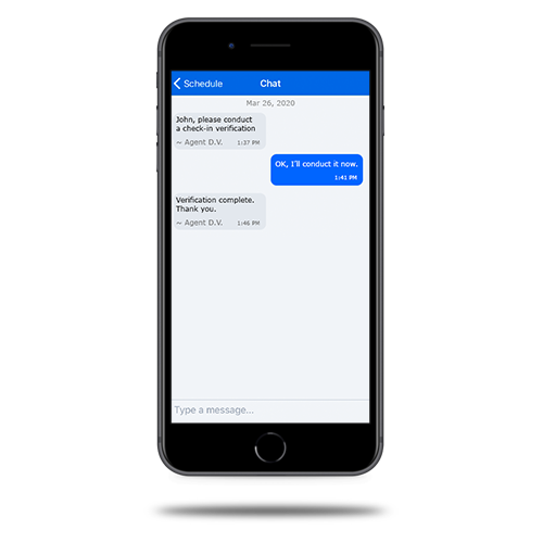 Enrollink Secure SMS Text Screen